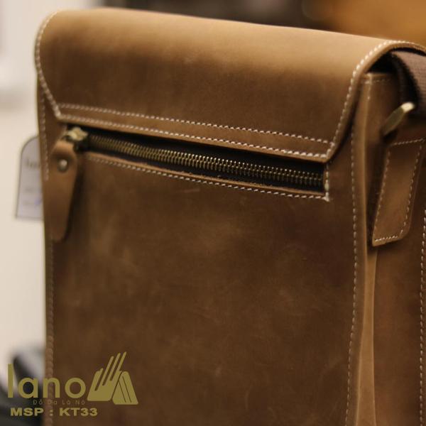 Túi đeo chéo nam da bò thời trang sang trọng KT33 mặt sau