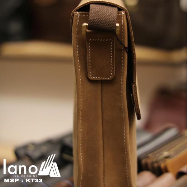 Túi đeo chéo nam da bò thời trang sang trọng KT33 mặt cạnh