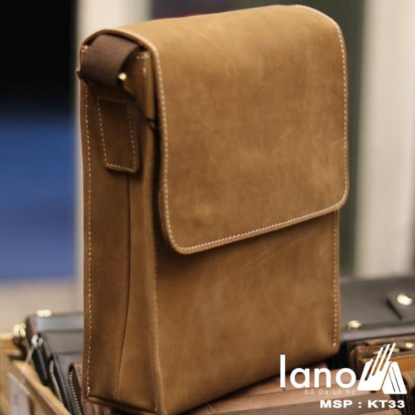 Túi đeo chéo nam da bò thời trang sang trọng KT33 nghiêng