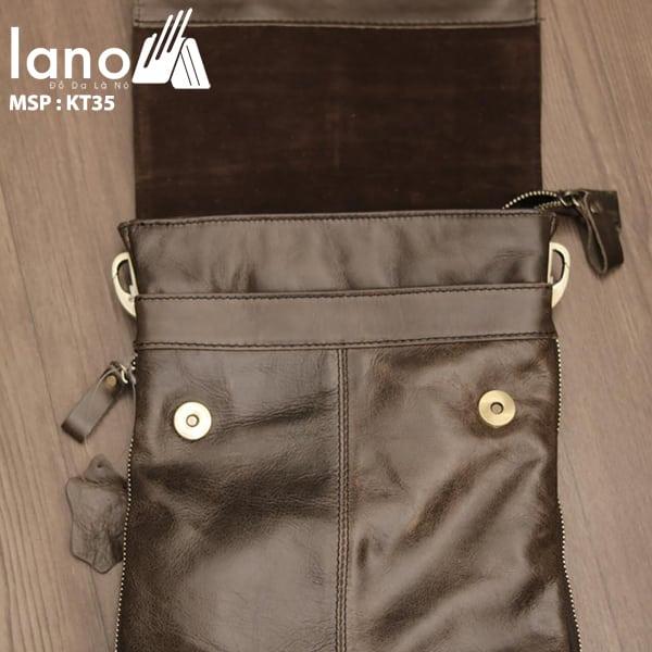 Túi đeo chéo nam da thật siêu mỏng giá rẻ KT35