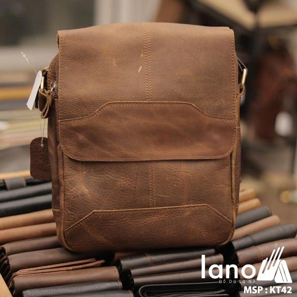 Túi xách nam da thật đeo chéo tuyệt đẹp 2017 KT42