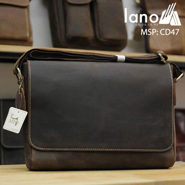 Túi Da Nam Đeo Chéo Đựng Macbook 13 inch