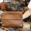 Cặp da nam Lano clutch bag đeo chéo cầm tay da thật sang trọng CD43