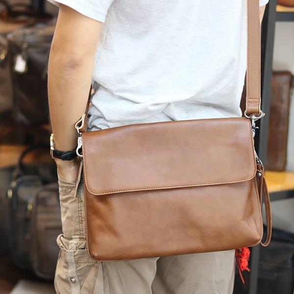 Cặp da nam Lano clutch bag đeo chéo cầm tay da thật sang trọng CD43 đeo chéo