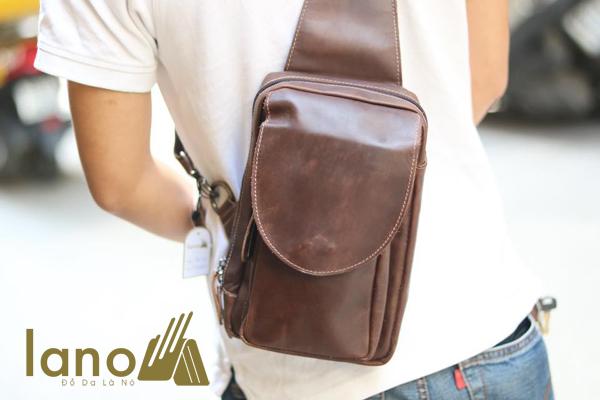 Túi Đeo Lưng Nam Da Bò Thật TDL-05 đeo chéo