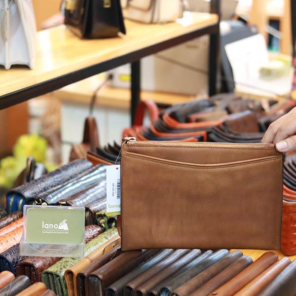 Túi da cầm tay nam Lano thời trang sang trọng
