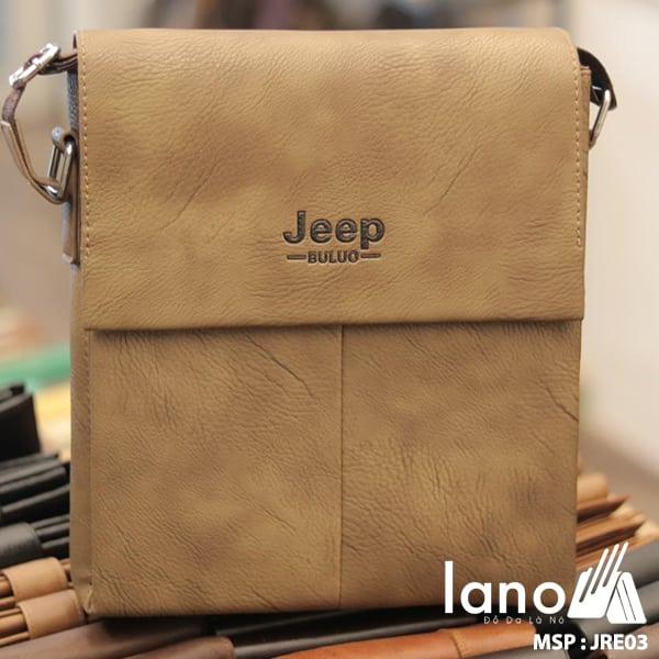Túi Đựng iPad Lano Đeo Chéo Jeep Thời Trang Giá Rẻ 003 - nâu nhạt