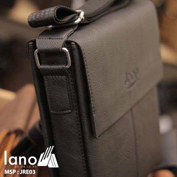 Túi Đựng iPad Lano Đeo Chéo Jeep Thời Trang Giá Rẻ 003 đen- cạnh bên