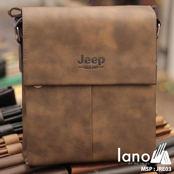 Túi Đựng iPad Lano Đeo Chéo Jeep Thời Trang Giá Rẻ 003 nâu đậm