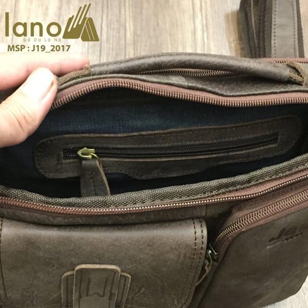 Túi xách nam da thật hàng hiệu đựng iPad Jeep J19 mẫu mới 2017 rêu bên trong