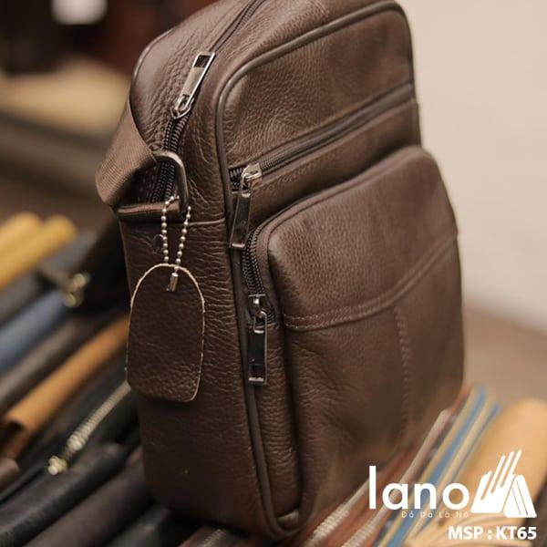 Túi đeo chéo nam giá rẻ KT65 nâu nghiêng