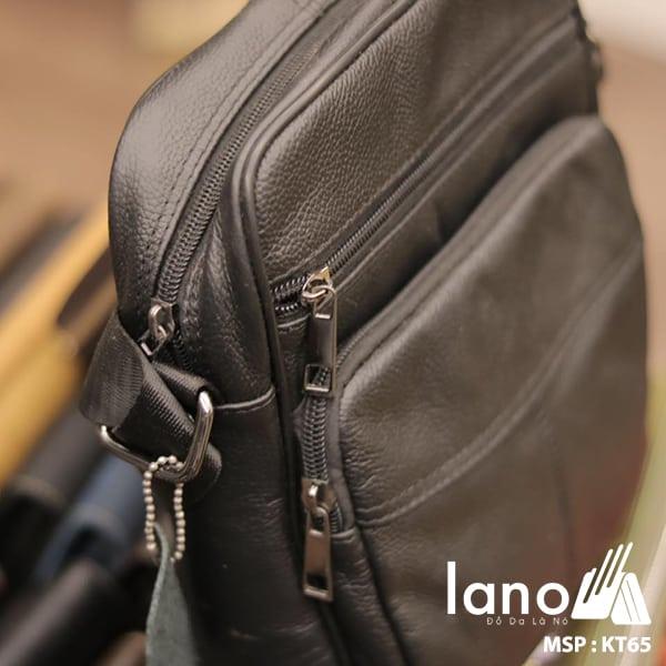 Túi đeo chéo nam giá rẻ KT65 đen nghiêng