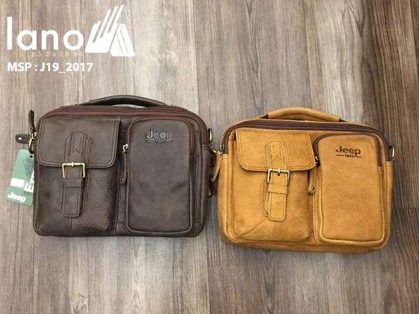Túi xách nam da thật hàng hiệu đựng iPad Jeep J19 mẫu mới 2017