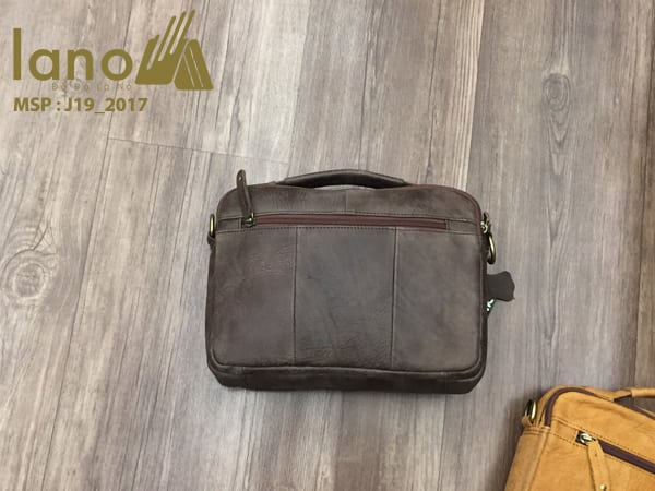 Túi xách nam da thật hàng hiệu đựng iPad Jeep J19 mẫu mới 2017 rêu mặt sau