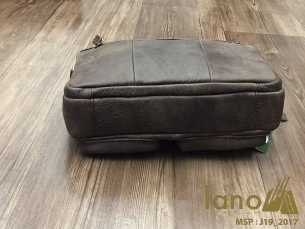 Túi xách nam da thật hàng hiệu đựng iPad Jeep J19 mẫu mới 2017 nâu - đáy tui