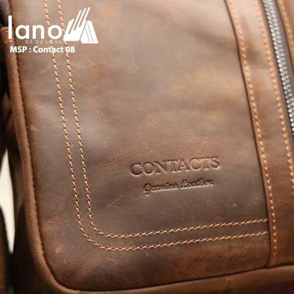 Túi da nam thời trang nhỏ gọn Contact 08