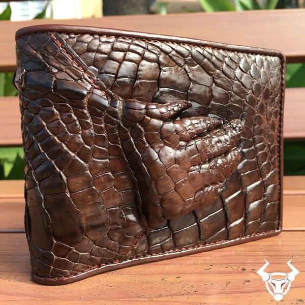 Bóp bàn tay da cá sấu thật giá rẻ BCS14