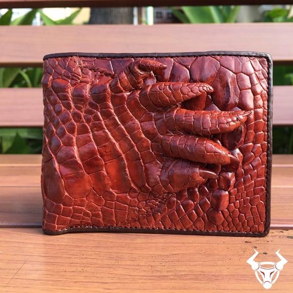 Bóp da cá sấu Móng Tay cho nam BCS12
