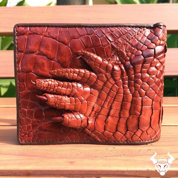 Ví bàn tay da cá sấu thật BCS13