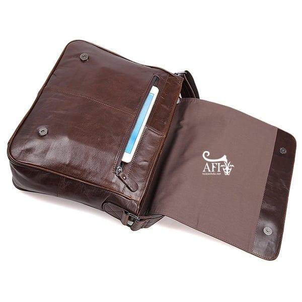 Cặp da nam đeo chéo đựng macbook da thật giá rẻ CD39