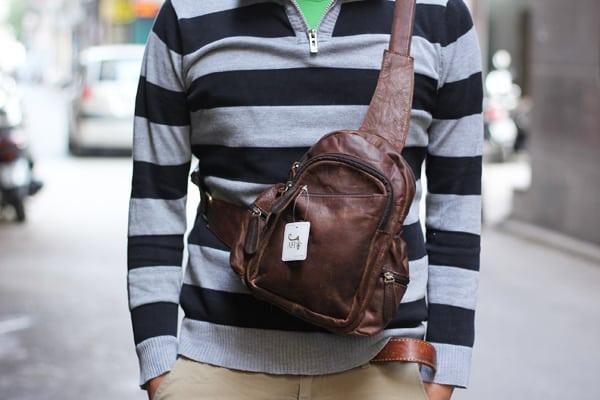 Túi đeo chéo ngực nam da thật giá rẻ TDL16