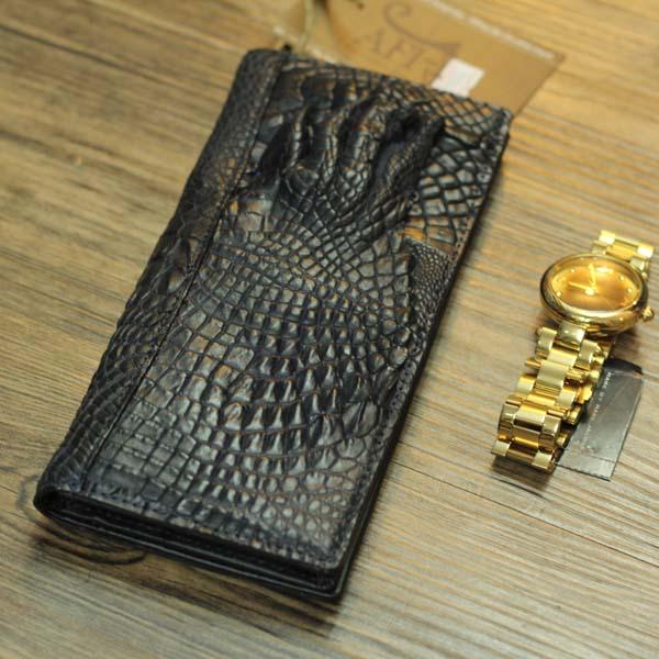 Ví cầm tay da cá sấu hình móng tay giá rẻ VCSN18