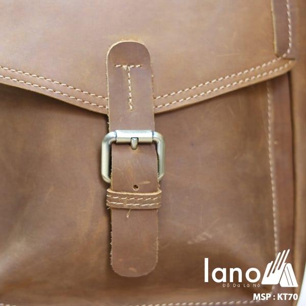 Túi đeo chéo nam da bò sáp thời trang phong cách KT70