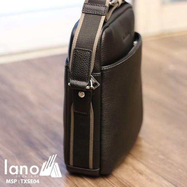 Túi da nam hàng hiệu đẳng cấp cho phái mạnh Schwarz Etienne TXSE04 nghiêng mặt cạnh túi