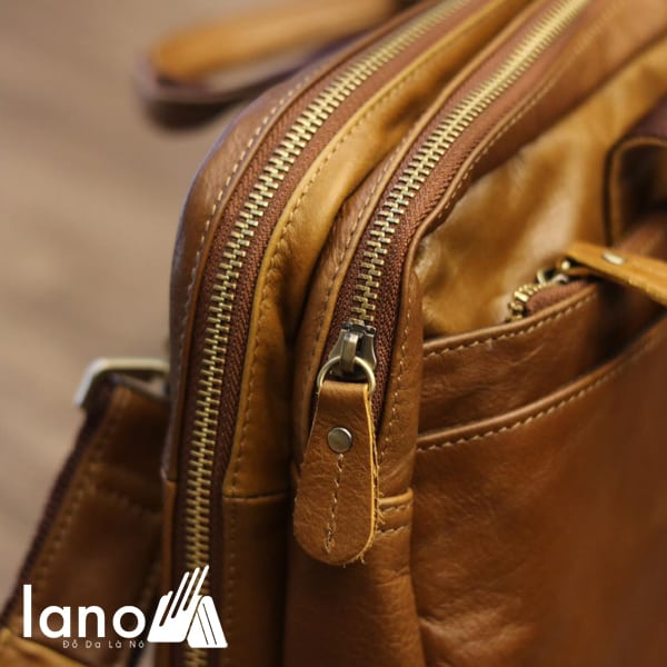 Cặp da nam công sở Lano thời trang cao cấp đựng laptop 15inch CD61 khóa chắc chắn