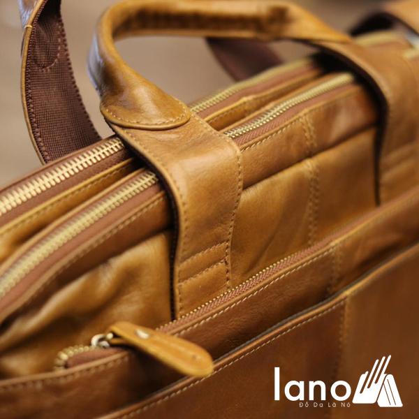 Cặp da nam công sở Lano thời trang cao cấp đựng laptop 15inch CD61 quai xách tay