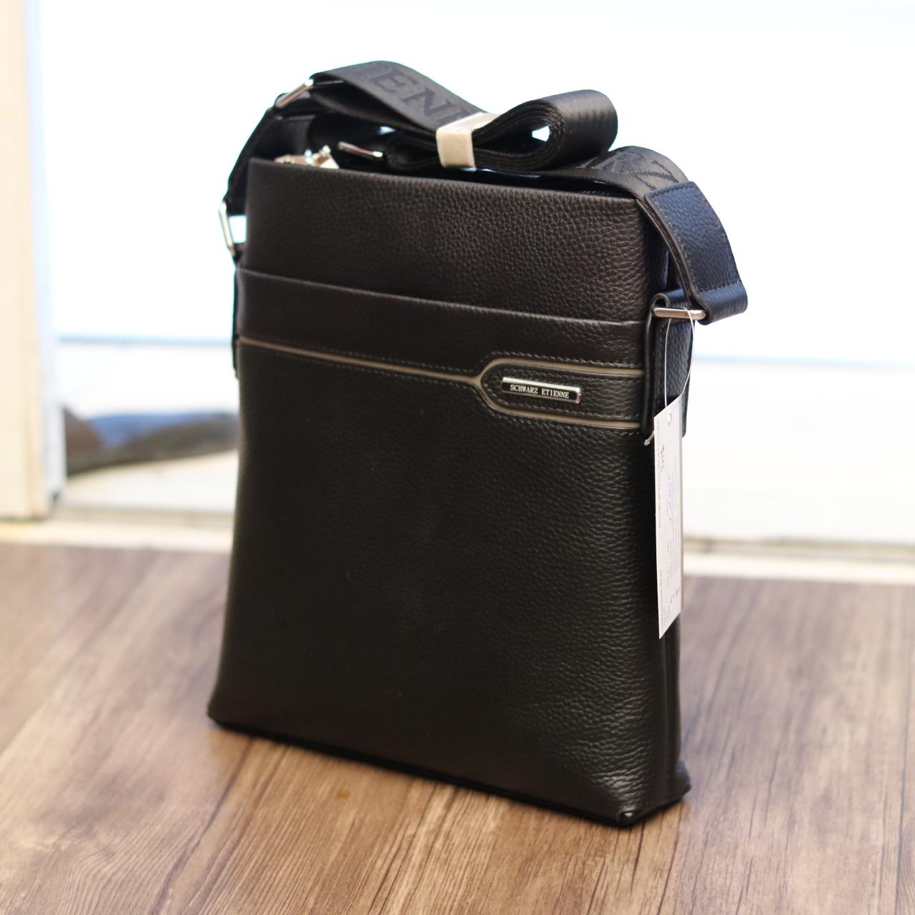 Túi da nam đeo chéo thời trang sang trọng Schwarz Etienne TXSE06 nghiêng