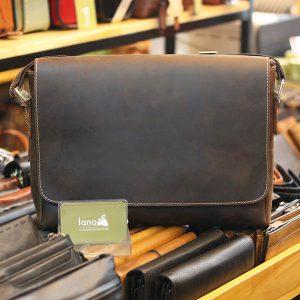 Túi Da Nam Lano Đeo Chéo Đựng Macbook 13 inch