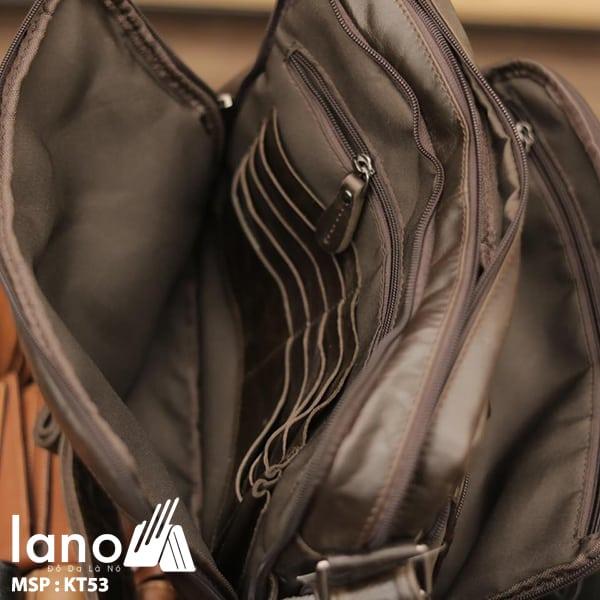 Túi xách nam Lano da bò đựng iPad KT53 bên trong