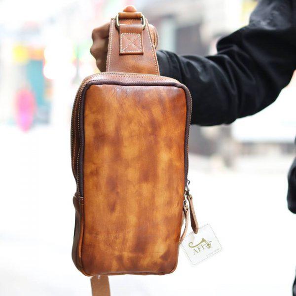Túi da đeo lưng cho nam thời trang sang trọng TDL22