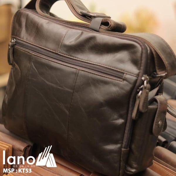 Túi xách nam Lano da bò đựng iPad KT53 mặt sau