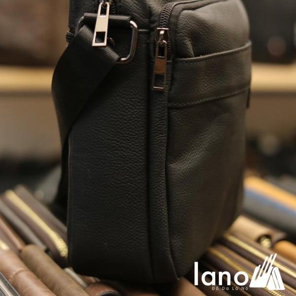 Túi đeo chéo nam Lano da bò giá rẻ KT74 mặt cạnh