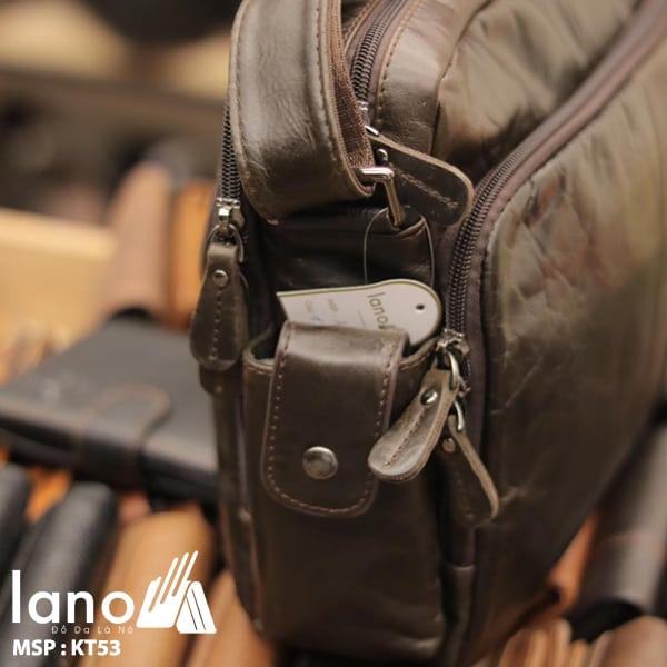 Túi xách nam Lano da bò đựng iPad KT53 cạnh bên