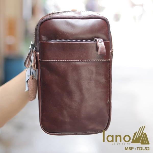 Túi da Lano đeo chéo trước ngực Sling Bag thời trang cao cấp TDL32