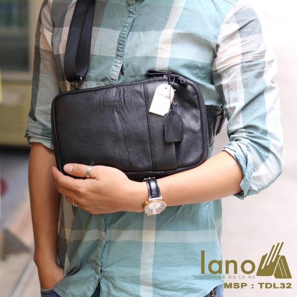 Túi da đeo chéo trước ngực Sling Bag thời trang cao cấp TDL32 đeo trước ngực