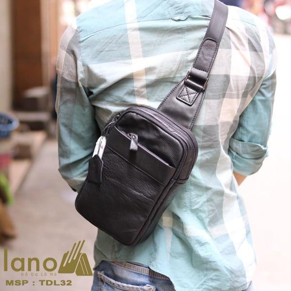 Túi da đeo chéo trước ngực Sling Bag thời trang cao cấp TDL32 đeo chéo