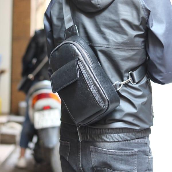 Túi da đeo ngực nam thời trang công sở TDL23 đeo chéo sau lưng