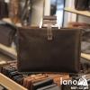 Túi da nam cầm tay thời trang Lano gọn nhẹ CLT003