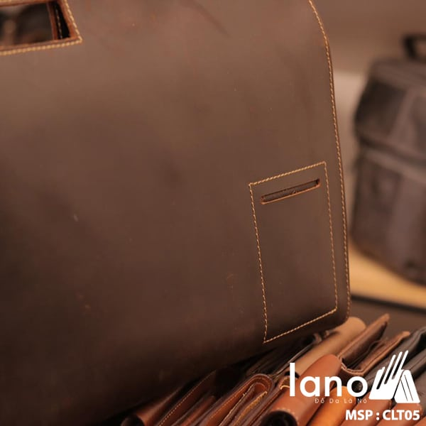 Túi da cầm tay cho nam Lano sang trọng lịch lãm CLT005