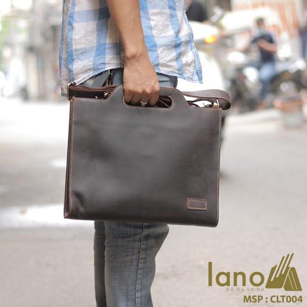 Túi cầm tay nam Lano da thật sang trọng lịch lãm tiện dụng CLT004 xách tay