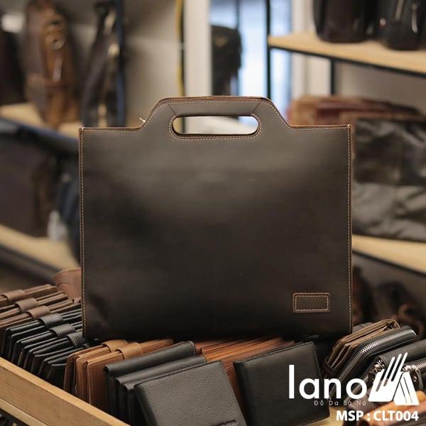 Túi cầm tay nam Lano da thật sang trọng lịch lãm tiện dụng CLT004