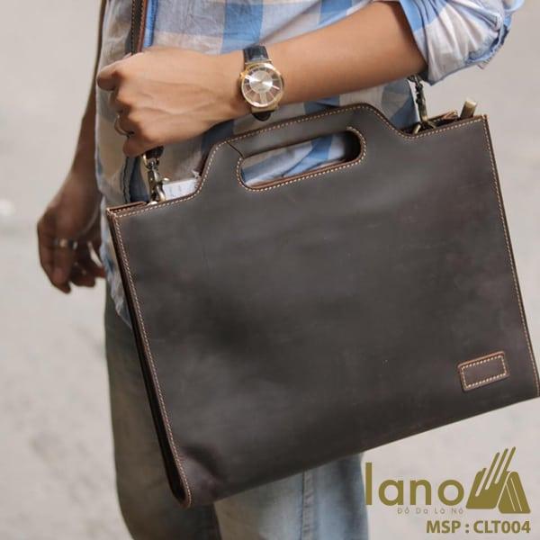 Túi cầm tay nam Lano da thật sang trọng lịch lãm tiện dụng CLT004 đeo chéo