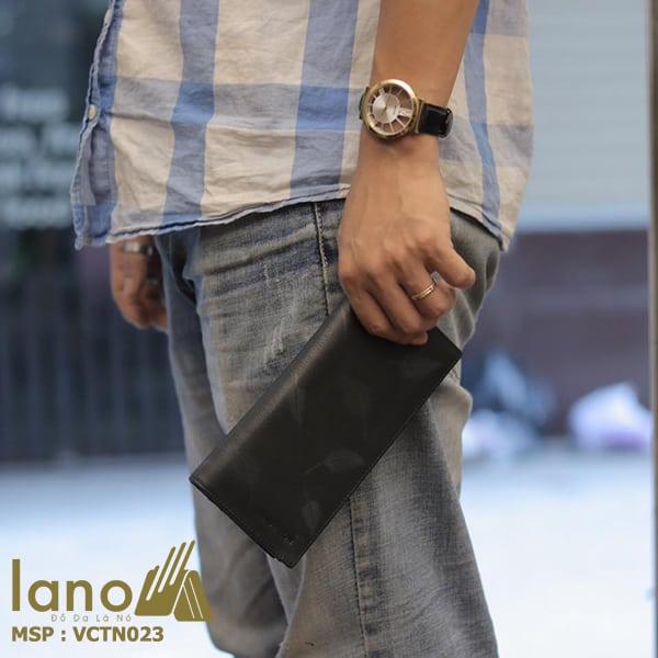 Ví cầm tay Nam Hautton lịch lãm thể hiện đẳng cấp phái mạnh Lano VCTN023 cầm tay