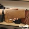Ví cầm tay nam Hautton mỏng gọn thời trang Lano tiện lợi mới nhất 2018 VCTN024 nâu vàng cầm tay