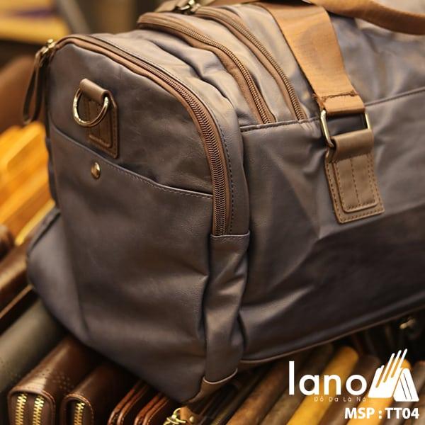 Túi trông du lịch nam Lano thời trang tiện lợi TT04 cạnh bên