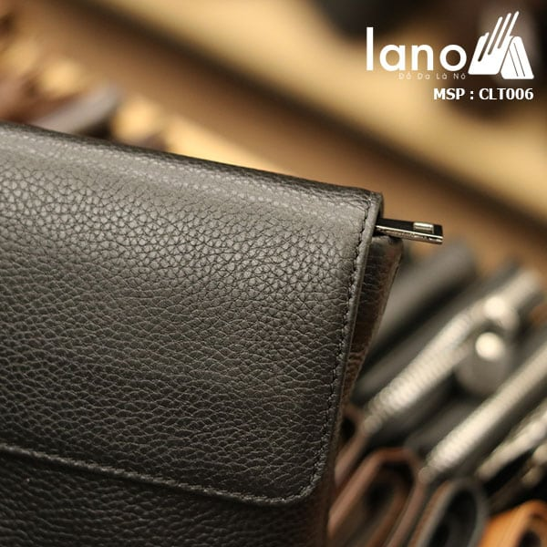 Túi cầm tay da bò thật Lano sang trọng lịch lãm CLT006